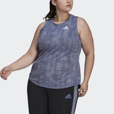 Primeblue Running Tank Top (Plus Size) Fioletowy