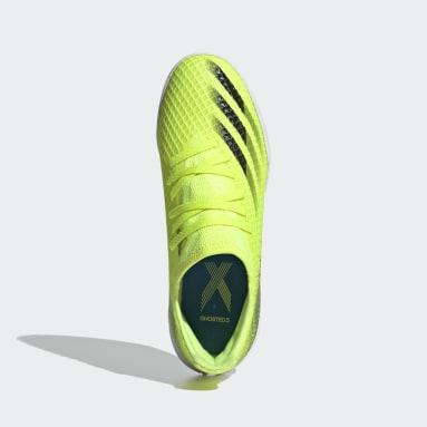 Calzado de Fútbol X Ghosted.3 Cancha Cubierta Amarillo Niño Fútbol