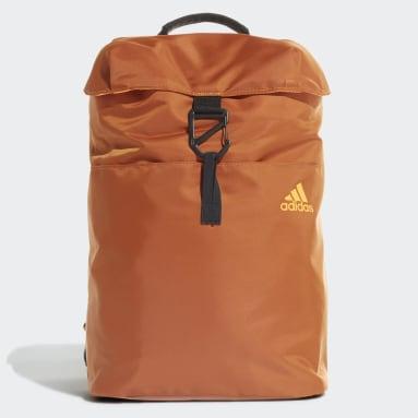 Women Training Brown ID Flap Backpack