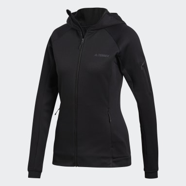 Women TERREX Black Terrex Stockhorn Hooded Fleece Jacket