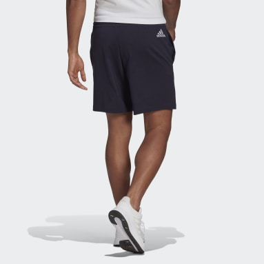 Heren Sportswear Blauw AEROREADY Essentials Linear Logo Short