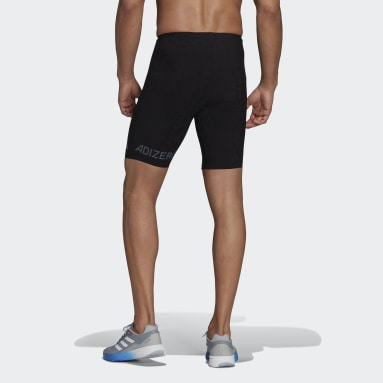 Men Running Black Adizero Primeweave Short Running Leggings