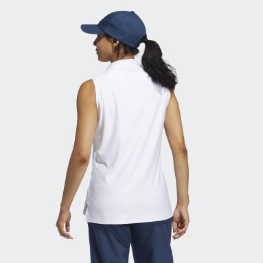 Women Golf White Go-To Primegreen Sleeveless Polo Shirt