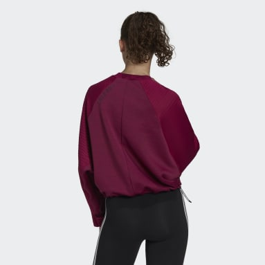 Women Sportswear Burgundy adidas Z.N.E. COLD.RDY Athletics Crew Sweatshirt