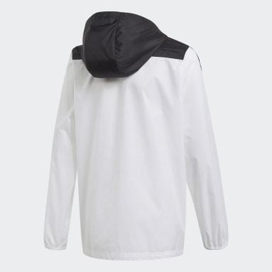 Cortavientos con capucha Tiro Blanco Niño Gimnasio Y Entrenamiento