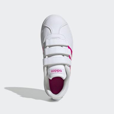 Chaussure VL Court2.0 Blanc Filles Marche