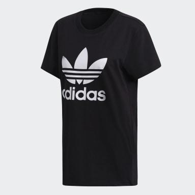 T-shirt Boyfriend Trefoil noir Femmes Originals