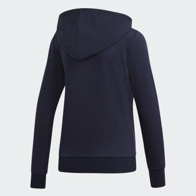 Hoodie Essentials Linear Blu Donna Sportswear