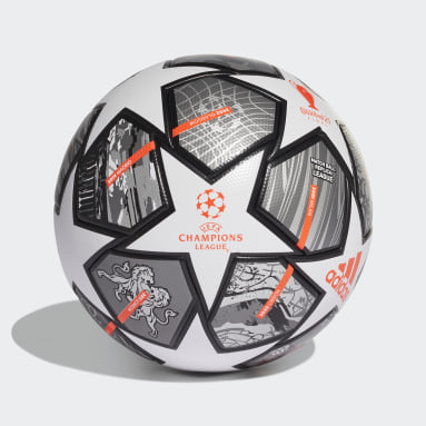 Men Soccer White Finale 21 20th Anniversary UCL League Ball