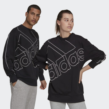Sportswear Black Giant Logo Sweatshirt (Gender Neutral)