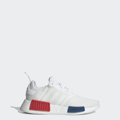 Kids Originals White NMD_R1 Refined Shoes