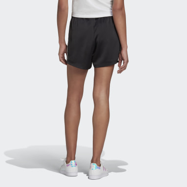 Women Originals Black Adicolor Classics Satin Shorts