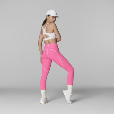 Women adidas by Stella McCartney Pink adidas by Stella McCartney TrueStrength Yoga Leggings