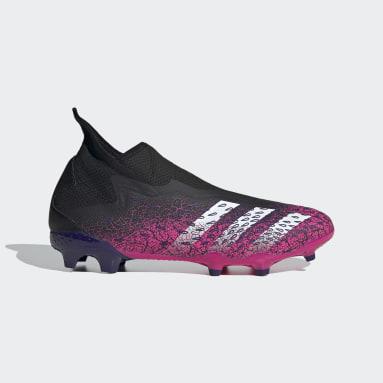 Fodbold Sort Predator Freak.3 Laceless Firm Ground støvler