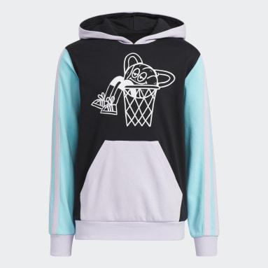 Kids 4-8 Years Basketball Black Lil Stripe Hoodie