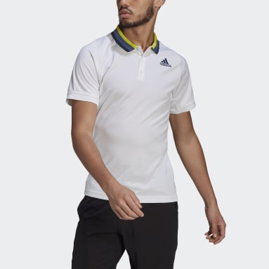 Heren Tennis Wit Tennis Freelift Primeblue HEAT.RDY Poloshirt