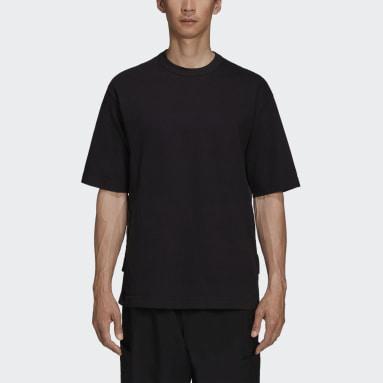 Männer Y-3 Y-3 CH3 Raw Jersey Graphic Logo T-Shirt Schwarz