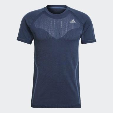 Camiseta Primeknit Azul Hombre Running