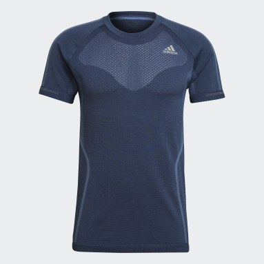 Men Running Blue Primeknit Tee