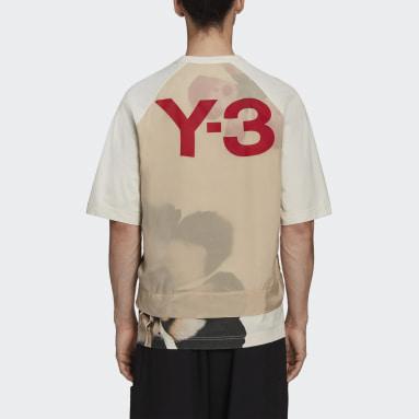 Männer Y-3 Y-3 CH3 Raw Jersey Graphic Floral T-Shirt Beige