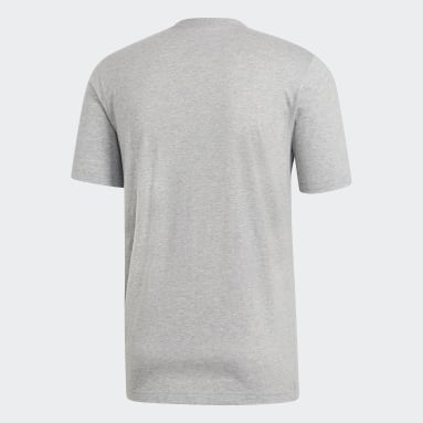 Men Training Grey Essentials Plain Tee