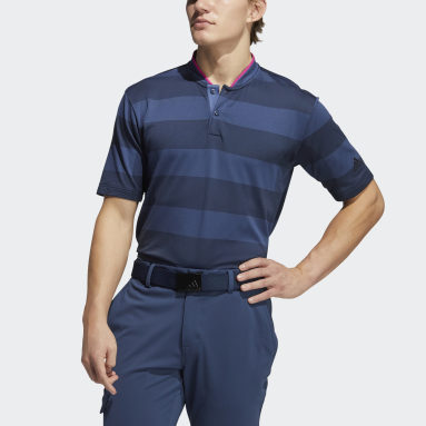 Men Golf Blue Primeknit Polo Shirt