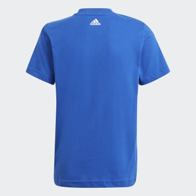 Boys Sport Inspired Blue adidas Essentials Logo Tee