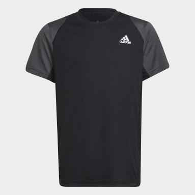 Genç Tenis Siyah Club Tenis Tişörtü