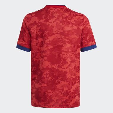 Camisola Alternativa 21/22 do Olympique Lyonnais Vermelho Criança Futebol