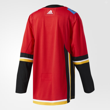 Maillot Flames Domicile Authentique Pro rouge Hockey
