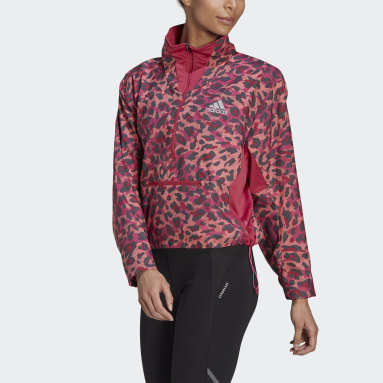 Giacca Fast Primeblue 1/2 Zip Rosa Donna Running