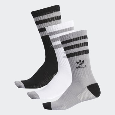 Men's Originals Grey Roller Crew Socks 3 Pairs