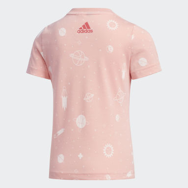 Girls Gym & Training Pink Style Summer T-Shirt