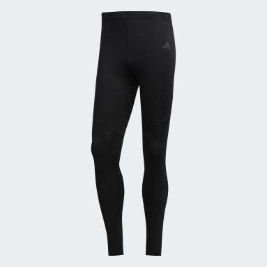 Men Running Black Own the Run Long Tights