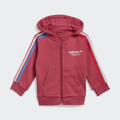 Tuta adicolor Full-Zip Hoodie Rosa Bambini Originals
