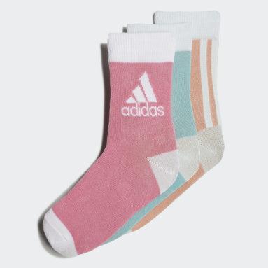 Kids Training Green Ankle Socks 3 Pairs