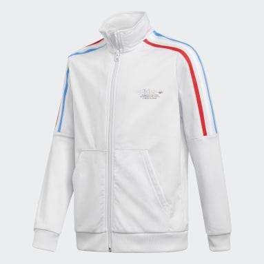 белый Олимпийка Adicolor