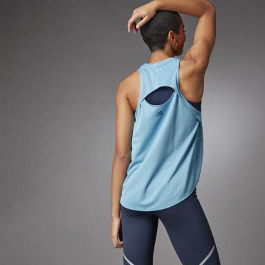 Débardeur 3 Bar Logo Bleu Femmes Running