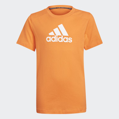 Jongens Fitness En Training Oranje Logo T-shirt