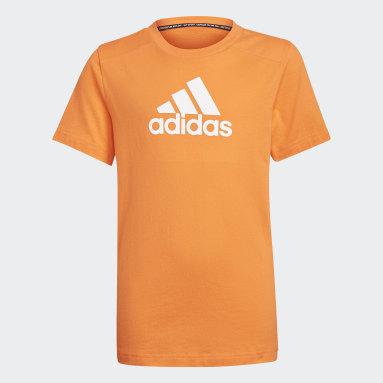 Boys Fitness Og Træning Orange Logo T-shirt