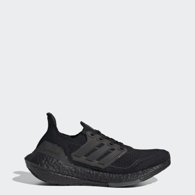 Youth 8-16 Years Running Black Ultraboost 21 Shoes