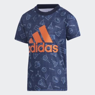 Çocuklar Training Mavi Training Essentials Polyester Tişört