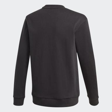 Jungen Fitness & Training Logo Sweatshirt Schwarz
