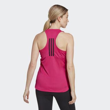 Ženy Cvičení A Trénink červená Tílko Primeblue Designed 2 Move 3-Stripes Sport