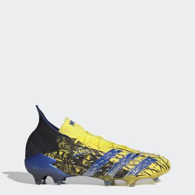 Bota de fútbol Marvel Predator Freak.1 césped natural seco Amarillo Fútbol