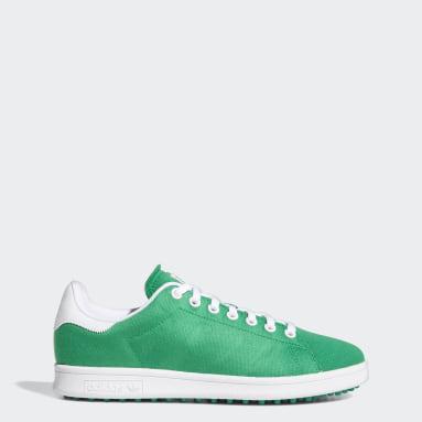 กอล์ฟ สีเขียว รองเท้ากอล์ฟแบบไร้ปุ่ม Stan Smith Primegreen Limited Edition