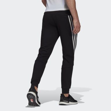 Men Sportswear Black adidas Sportswear 3-Stripes Tape Pants