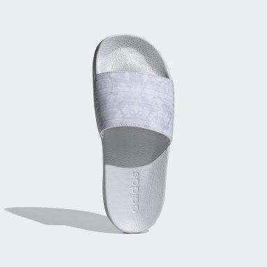 Women Swimming Grey Adilette Shower Slides