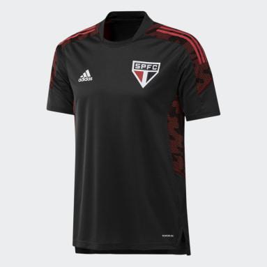 Camisa Treino São Paulo FC Preto Homem Futebol