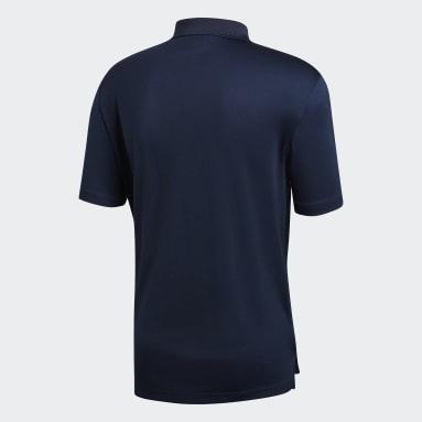 Men Golf Blue Performance Polo Shirt